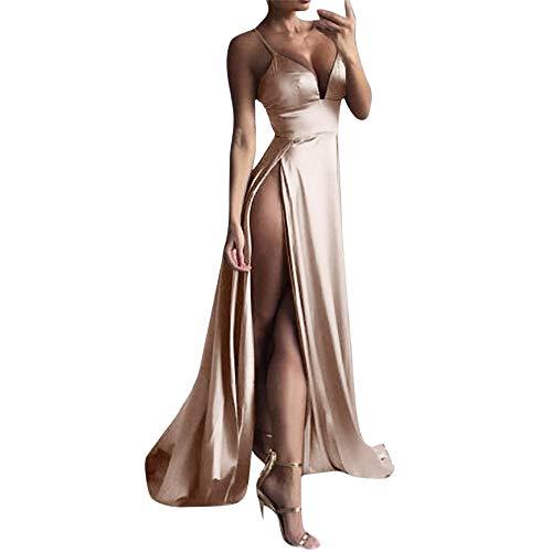 Kleid High Split Kleid Sexy Women Solid Evening Party Animal Print Faux Wrap