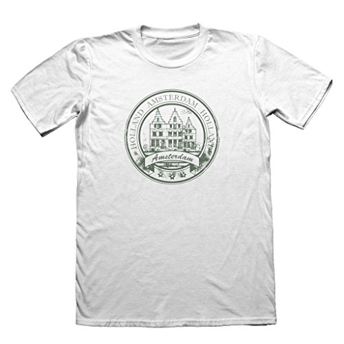 Amsterdam Holland Design T-Shirt - Men's Holiday Travel Top #4528