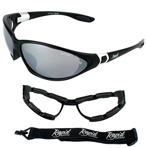 a0d5f795cd78 Rapid Eyewear Moritz UV400 Black Anti Fog Ski SAFETY GOGGLES & SPORT  SUNGLASSES: Interchangeable Side