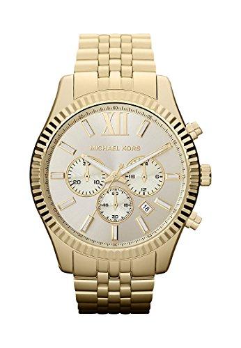 michael-kors-herren-armbanduhr-rund-markierungen-romische-ziffer-quarz-one-size-goldfarben-gold