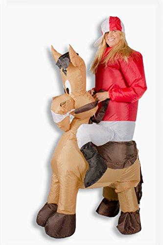 aufblasbares Kostüm Pferd Reiter Karneval Kostüm Fasching (Und Pferde Für Kostüme Reiter Halloween)