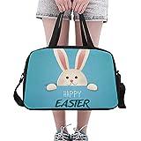 Plosds Mädchen Handtaschen Frohe Ostern Grußkarte Vektor Yoga Gym Totes Fitness Handtaschen Seesäcke Schuhbeutel Für Sport Gepäck Womens Outdoor Einzigartige Handtaschen Für Frauen