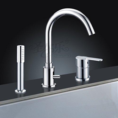ETmla Dreiloch Wannenrandarmatur Badewanne Wasserhahn Dusche Set Desktop Waschbecken Wasserhahn Bidet Wasserhahn - Classic Bidet Set