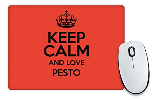 RED Keep Calm and Love Pesto colore 2789 Tappetino per Mouse