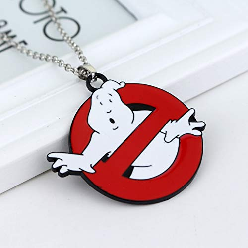 Film Schmuck Ghostbusters Logo Necklace Movie 80s Achtziger Kitsch Ghostbusters Bill Murray Geschenk-fans Cospaly Christmas Party