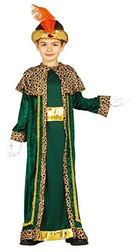 Kostüm 3 Wise Kinder Men - Jungen Grünen King Weiser Mann Herren Indian Prince Weihnachten Krippe Verkleidung Kostüm Outfit 3-12 Jahre - Grün, 3-4 Years