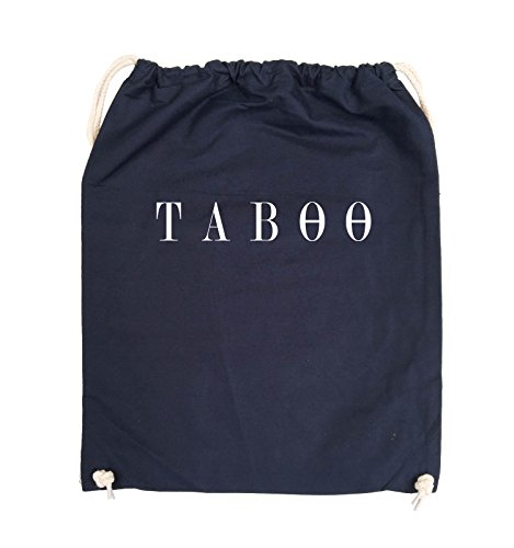 Comedy Bags - TABOO - LOGO - Turnbeutel - 37x46cm - Farbe: Schwarz / Pink Navy / Weiss