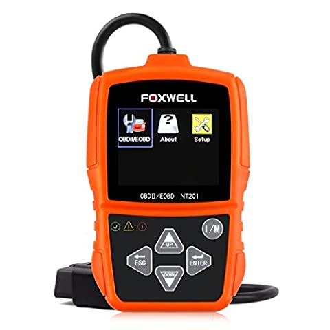Foxwell NT201 OBD2 Scanner, New Version Diagnostic Code Reader with