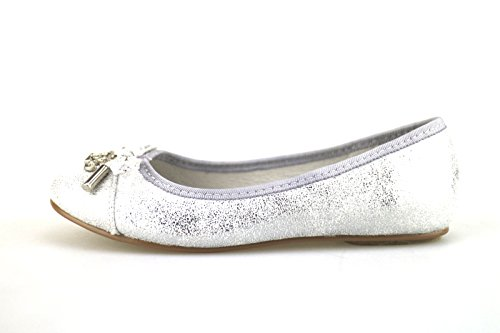 ENRICO COVERI ballerine bambina argento / oro camoscio tessuto (25 EU, Argento)