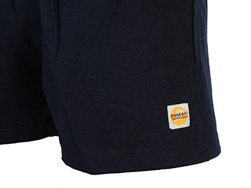 Panzeri Unito ha navy shor-Pantaloncini in jersey, girocollo - Bleu marine / bleu nuit