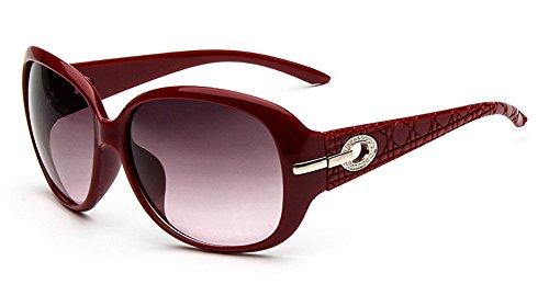 Design de mode Retro Vintage pour femmes lunettes de soleil polarisées Monture Large mQWzbf