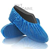 30 Pack of Blue Disposable Overshoes for Shoes and Boots to Protect Carpets & Floors. Cleaning Accessories