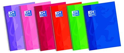 Oxford - Cuaderno tamaño folio 80 hojas milimetrado con margen tapa extradura