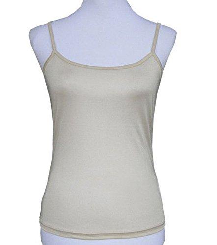 Silkyboo Damen Unterhemd Beige