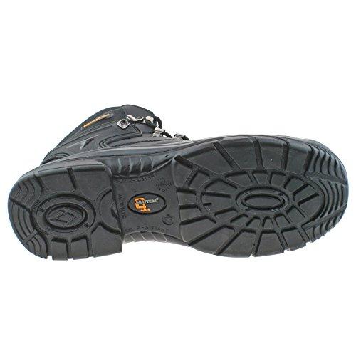 Grafters pour homme en cuir imperméable Coupe Large À Lacets Bottes de sécurité m9508 Noir