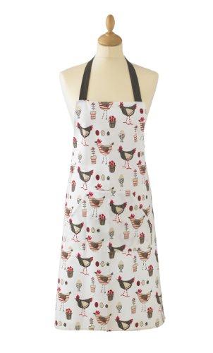 Cooksmart Baumwollschürze mit Tasche, Hühner - Motiv