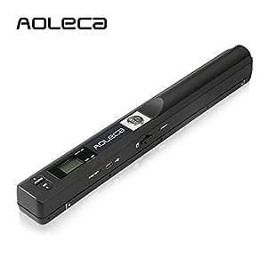Handscanner Aoleca 900DPI Tragbarer Mobile Dokumentenscanner A4/B5 Scanner Visitenkartenscanner s/w und Farbe (Erweitern 8G Micro SD Karte, Hi-Speed USB 2.0 und OCR Software enthalten)