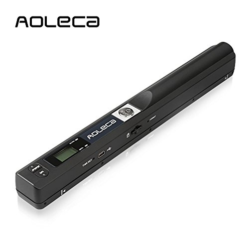 Price comparison product image Portable Scanner Aoleca 900DPI Handheld Mobile Document Portable Scanner Business Card Hand Scanner and Color(High-Speed USB 2.0,JPG/PDF Format Selection,8G Micro SD Card and OCR Software included)