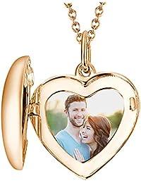 be9b98f51136 SOUFEEL Collar Nombre con Foto Mujer Personalizado Plata de Ley Regalo  Cumpleaño Navida para Familia Novio