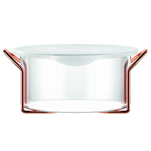 Bodum,set Hot Pot Set, teglia da forno con coperchio in silicone, Silicone, trasparente, 2.0