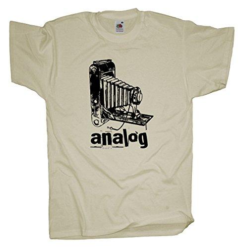 Ma2ca - Analog Old Cam - T-Shirt - Balgenkamera Natural