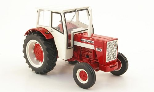 International Harvester 624, rot/weiss, mit Kabine, Modellauto, Fertigmodell, Replicagri 1:32 -