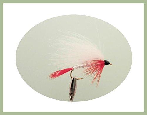 6Stück weiß Marabou Fliegenfischen Fliegen, Auswahl von Größen Verschieden