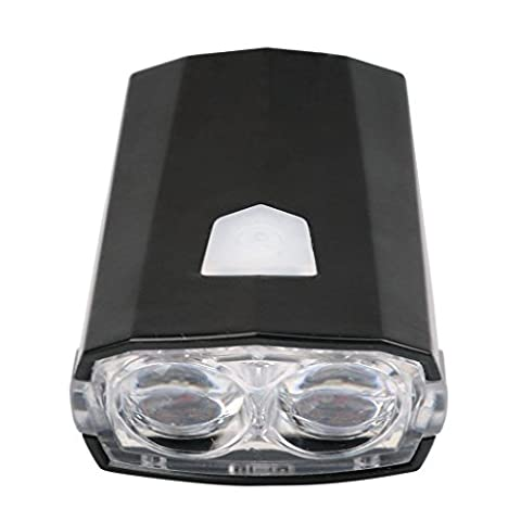hunpta New LED avant pour vélo Support Phare de vélo rechargeable USB Noir, noir