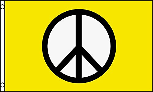 AZ FLAG Bandera SÍMBOLO DE LA Paz Amarillo 150x90cm - Bandera Amarill
