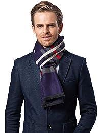 heekpek Hommes écharpe d hiver, écharpe de loisirs chaud et classique Plaid  Business, foulard rayé à la mode, doux… 56363ff8241