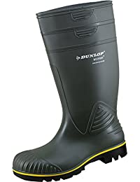 Dunlop Famosa DEE' Media Altura Ancho Pierna Wellies, Color Negro, Talla 39 EU