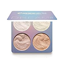 4 Color Highlight Powder Palette,Bloodfin Professional Shimmer Glitter Bronzer Highlighter Powder Palette Compact Highlighting Shimmering Powder for Women Girls