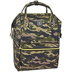 "Moos ""Camouflage"" Oficial Mochila Juvenil Con Asas Para Portátil Hasta 13"", 270x190x400 mm"