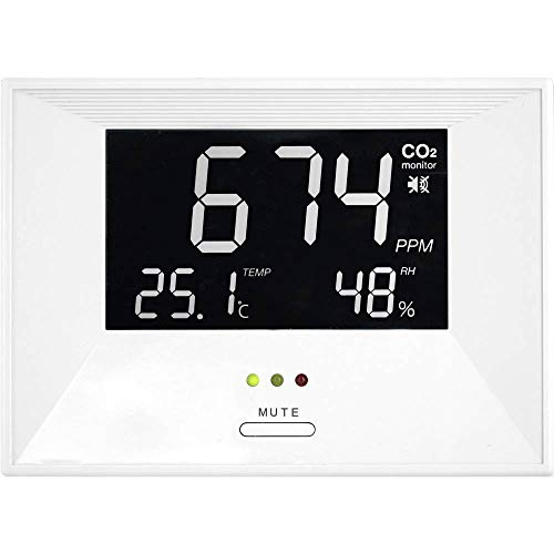 """TFA Dostmann CO2-Messgerät \""""Air CO2ntrol Life\"""" mit Thermo-/Hygrometer weiss"""
