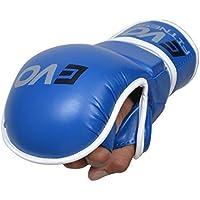 Evo Fitness Presa MMA Gel Guanti gabbia UFC Combattimento Sparring Guanto Training - Blu, M