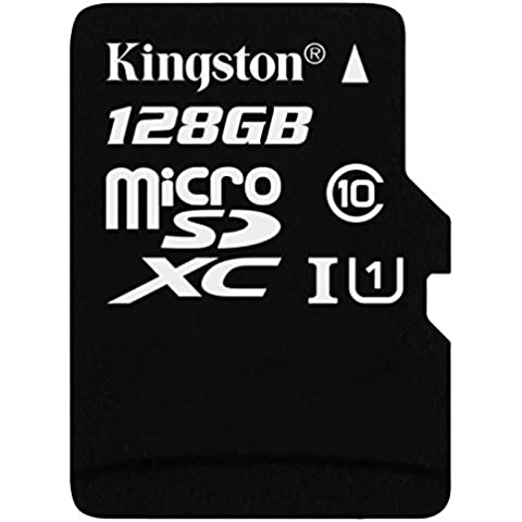 Kingston SDC10G2/128GB - Tarjeta microSD de 128GB (clase 10 UHS-I 45MB/s) con adaptador SD