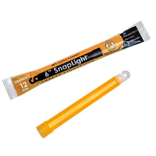 Cyalume SnapLight Industrial Grade Chemical Light Sticks, orange, 15,2 cm lang, 12 Stunden Dauer (10 Stück) von Cyalume Technologien, Inc.