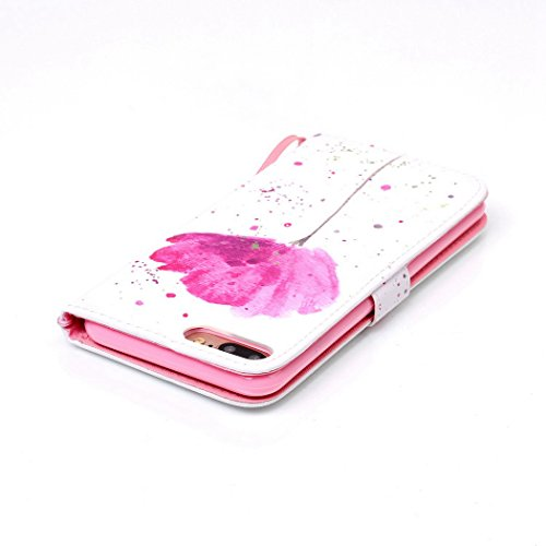 Ledowp Apple iPhone 7Plus custodia portafoglio, copertura integrale design pattern custodia in similpelle di copertura con slot per schede per iPhone 7Plus blu Elephant #1 Flower #1
