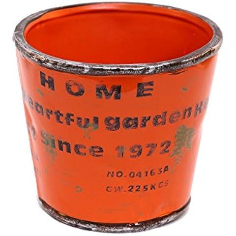 Pide X esa Boca HR612 - Porta tiestos cerámica, color Naranja