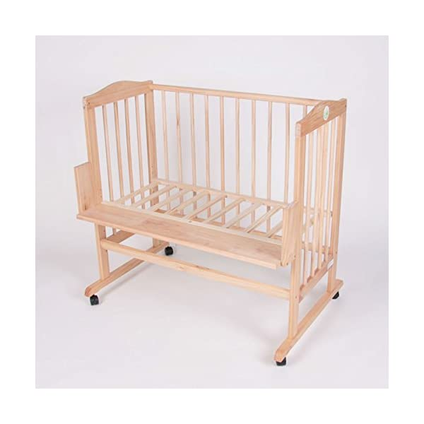 Bed side cot all inclusive 90x40cm, pink stripes Bambino World Main features:3 possible uses:Bed side cot (3 sides closed),Cot bed (4 sides closed),Child sofa;High quality pinewood;Height-adjustable duckboards;Inclusive bedlinen set, canopy and mattress; Bed side cot with large lying space 90 x 40 or 90 x 55cm (if you use the included additional board);Made of high-quality pinewood, clear-varnished with saliva-resistant toy´s paint with a high proportion of wax;Inclusive additional lateral part for use as a cot bed;Height-adjustable duckboards from 17 to 46cm to fit to the height of the parent´s bed; 4 movable castors, 2 with a brake;Overall dimensions 93 x 44/56 x 81cm; Accessories included in our offer:Mattress:High quality mattresses: soft foam polyurethane,Dimensions: 90 x (40+15)cm,Mattress cover: 100% cotton,Quilted on one side with washable fabric,Removable, machine washable at 60°C, 6