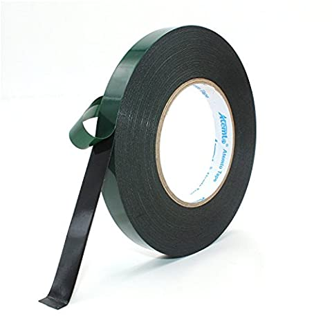 Mounting Tape, Atemto Double Sided Foam Tape 19.68mil X 0.39inch X 65ft Industrial Strength Sticky Adhesive Glue Heavy Duty Dustproof Waterproof