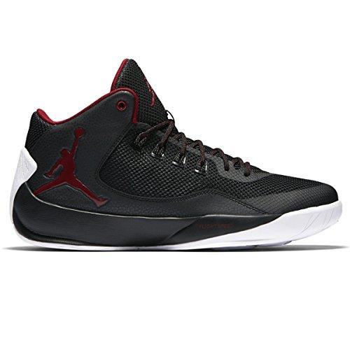 Nike Herren Jordan Rising High 2 Basketball Turnschuhe, Black (Black (Schwarz / Rot-Weiß Fitness-Studio)), 44 EU