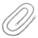 FENICAL Reemplazo de cadenas de bolso de correa de cadena plana de hierro para bolso de mano