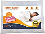 Warmzzz Electric Blanket for Single Bed. Shock-Proof Bed Warmer with 2 Heat Settings