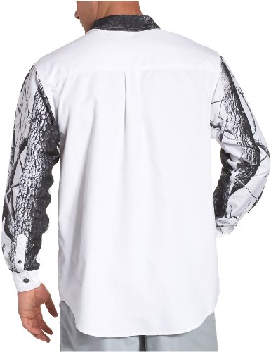 Realtree Herren Camo (Lange Ärmel Camp Shirt Hardwoods White