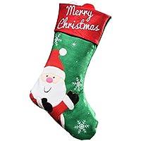 Weinachten Socken Festliche Dekoration Elch Süßigkeit Geschenke Tüten Handgefertigt Nostalgisch ca. 45 * 26cm