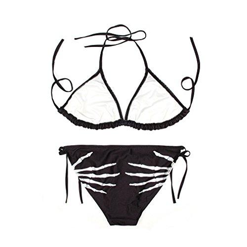 Ecollection Damen Bikini-Set onesize Skull Hands