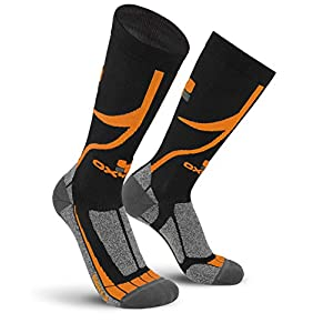 Oxyburn Herren Bike BTM Knee High Performance Dry Socken