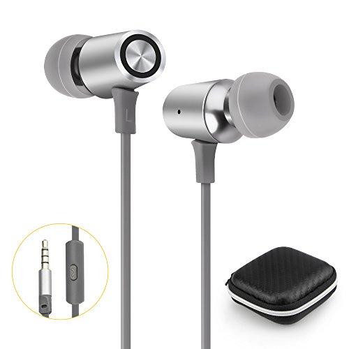 Quntis® In Ear Kopfhöhrer Headset mit Mikrofon Kopfhöhrer mit Anrufregel Ohrhöhrer für Tablette, PC Desktopcomputer, alle Smartphone, MP3 MP4 Player, PSP Spiel, Notebooks, usw. Space Grau - Viel Spiel Psp