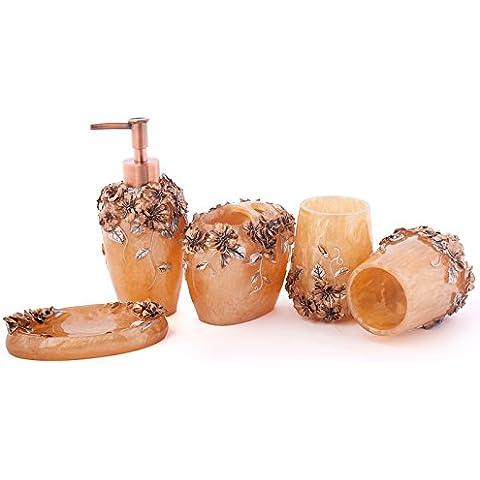 Perla di resina di guscio set da bagno di cortesia da bagno Home Articoli da toeletta